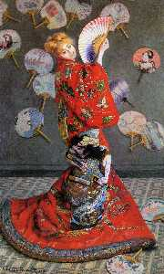 Claude Monet - Japan-s  ( Camille Monet in Japanese Costume )