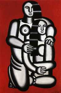Fernand Leger - due figure nudo  su  ross..