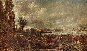 John Constable - l apertura di waterloo bridge visto da whitehall scale