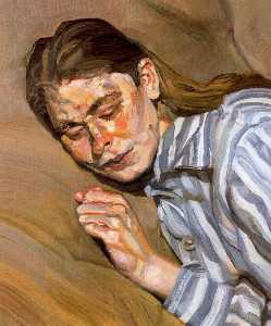 Lucian Freud - Ragazza in camicia da not..
