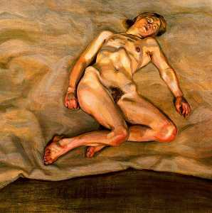 Lucian Freud - Ragazza Nuda I Asleep
