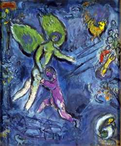 Marc Chagall - Giacobbe lotta con l angelo
