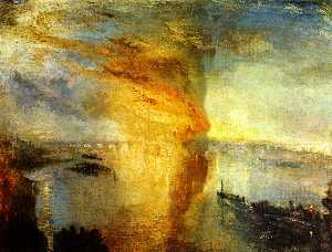 William Turner - il rogo delle case del parlamento