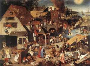 Pieter Bruegel The Younge.. - Proverbi fiamminghi