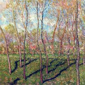 Claude Monet - alberi in inverno , Veduta di Bennecourt