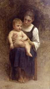 William Adolphe Bouguereau - dipinto incompiuto