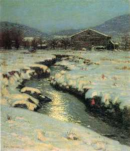 Lowell Birge Harrison - Woodstock prati in inverno