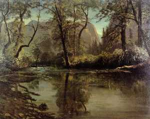 Albert Bierstadt - Yosemite Valle , In calif..