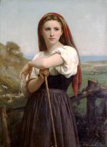 William Adolphe Bouguereau - Giovane pastorella