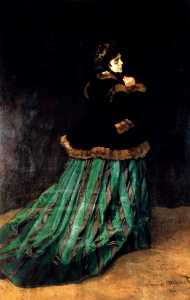 Claude Monet - donna in un Verde  vestito
