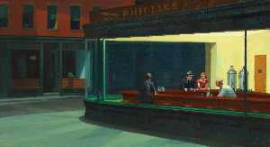 Edward Hopper - Nighthawks , l'art instit..
