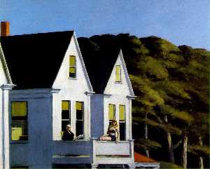 Edward Hopper - second story sunlight , ,..