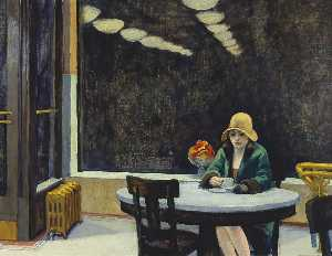 Edward Hopper - Automat ( piccolo )