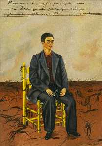 Frida Kahlo - Self-Portrait con i capel..