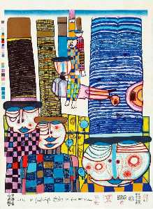 Friedensreich Hundertwasser - tennos fly with Cappelli