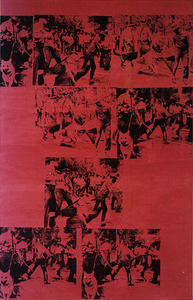 Andy Warhol - Race Riot Red