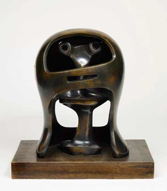 Casco Capo No . 2, scultura di Henry Moore (1898-1986, United Kingdom)