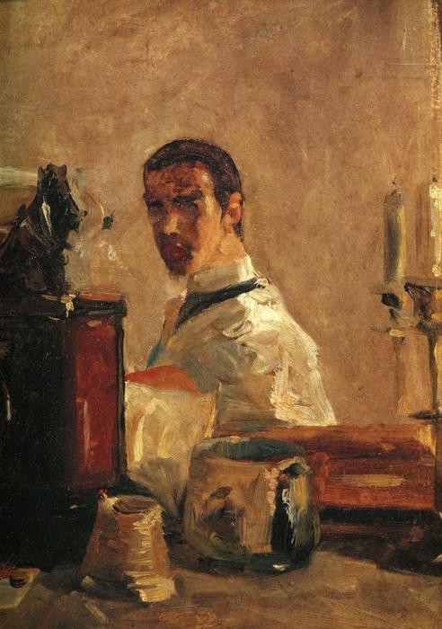 Self-Portrait1, olio di Henri De Toulouse Lautrec (1864-1901, France)