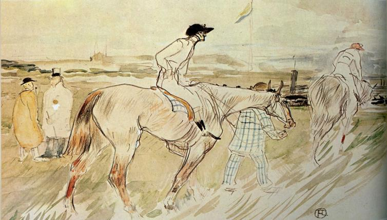 The Good Jockey, olio di Henri De Toulouse Lautrec (1864-1901, France)