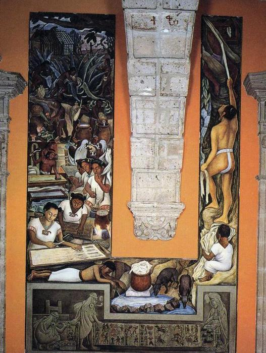 Cartai, affreschi di Diego Rivera (1886-1957, Mexico)