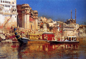 Edwin Lord Weeks - The Barge del Maharaja di..