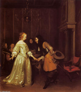 Gerard Ter Borch The Youn.. - Un danza  coppia