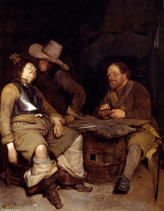 Gerard Ter Borch The Youn.. - una sala della guardia in..