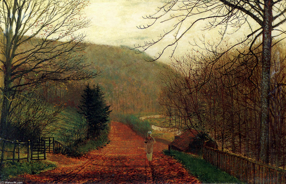 Fucina Valle , Scarborough, olio su tavola di John Atkinson Grimshaw (1836-1893, United Kingdom)