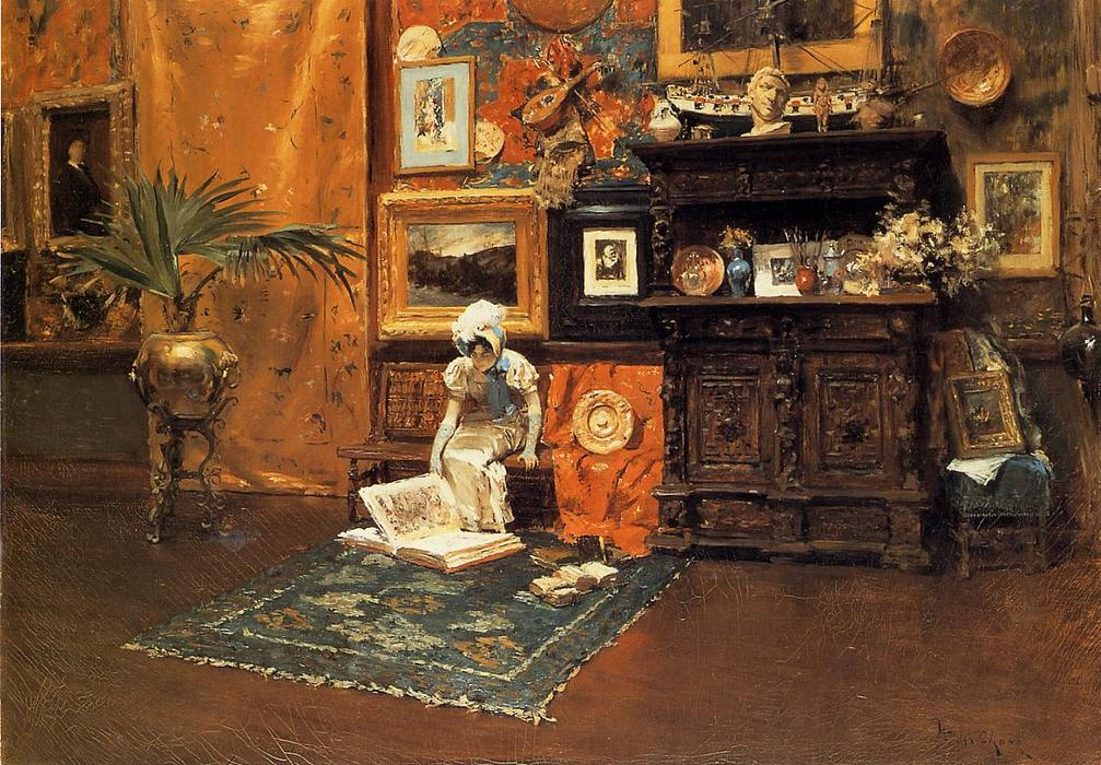 contante Antartico Studio 1, olio di William Merritt Chase (1849-1916, United States)