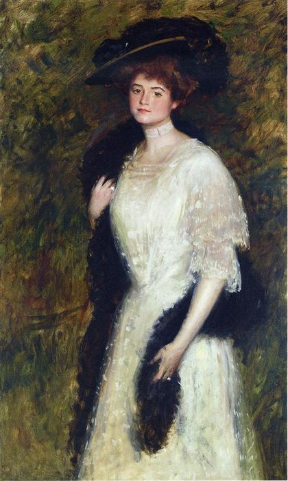 Ms. Helen Dixon, olio su tela di William Merritt Chase (1849-1916, United States)