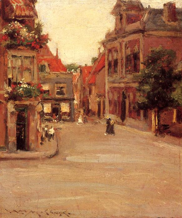 il red roofs di Haarlem, olio di William Merritt Chase (1849-1916, United States)
