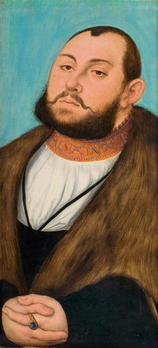 Johann Friedrich il Magnanimo, olio di Lucas Cranach The Elder (1472-1553, Germany)