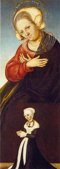 S Anne, olio di Lucas Cranach The Elder (1472-1553, Germany)