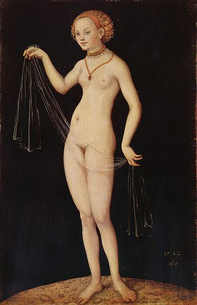 Venere, olio di Lucas Cranach The Elder (1472-1553, Germany)