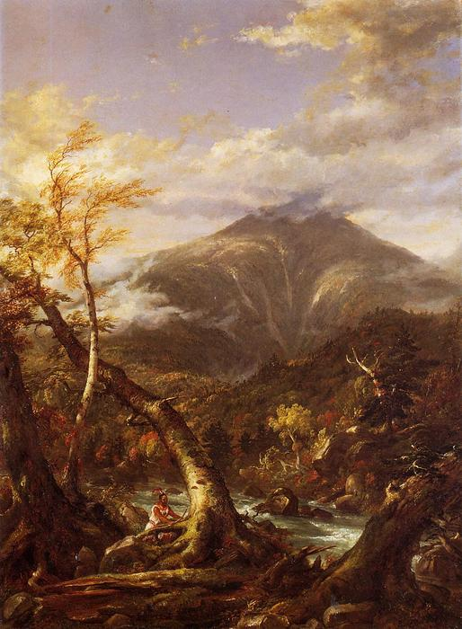indiano pass Tahawus, olio su tela di Thomas Cole (1801-1848, United Kingdom)