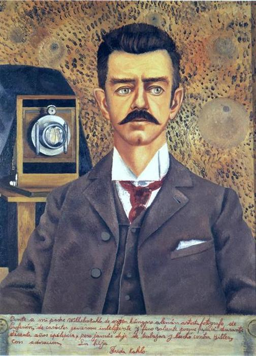 retrato de don guillermo kahlo, olio di Frida Kahlo (1907-1954, Mexico)