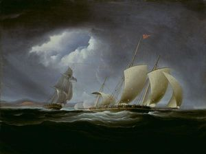 Thomas Birch - Cattura di Tripoli da parte Enterprise