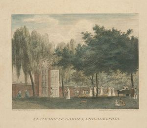 Thomas Birch - State-House Giardino , Philadelphia