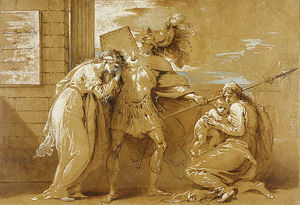 Benjamin West - Fright di Astianatte