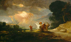 Benjamin West - Lot in fuga da Sodoma
