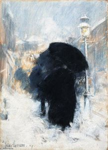 Frederick Childe Hassam - A New York Blizzard