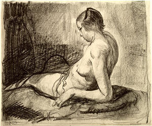 George Wesley Bellows - nudo ragazza reclinabili