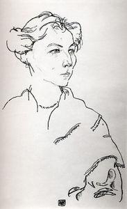 ritratto di herbert rainer disegno di egon schiele 1890