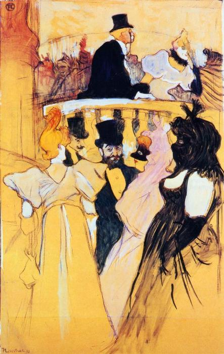 all'opera palla, 1893 di Henri De Toulouse Lautrec (1864-1901, France)