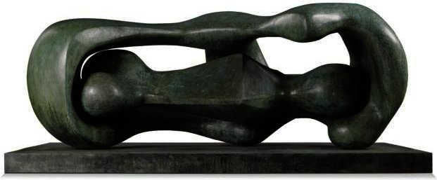 Reclining Forme Connected, olio di Henry Moore (1898-1986, United Kingdom)