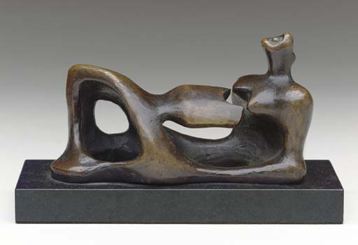 reclinabili figura 4, illustrazione di Henry Moore (1898-1986, United Kingdom)