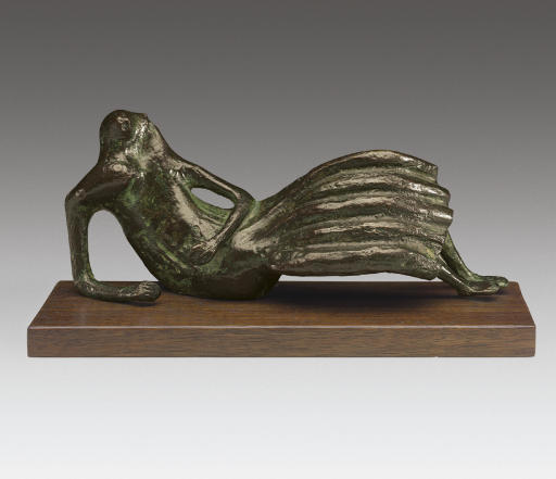 Reclining Figure No. 5, illustrazione di Henry Moore (1898-1986, United Kingdom)