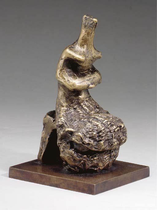 donna seduta conchiglia  gonna , incisione di Henry Moore (1898-1986, United Kingdom)