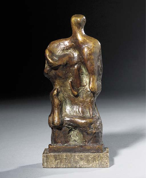 in piedi figura rilievo `no` . 2 di Henry Moore (1898-1986, United Kingdom) | Copia Pittura | ArtsDot.com