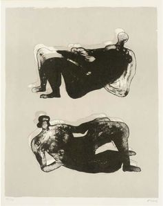Henry Moore - due reclinabili figure 7